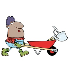 Hispanic Female Landscaper vector image