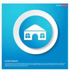 home icon abstract blue web sticker button vector image