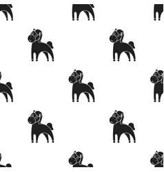 horse black icon for web and mobile vector image vector image