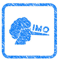 Imo lier framed grunge icon vector
