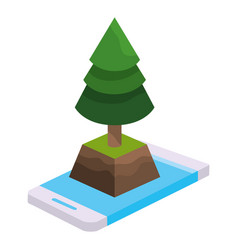 isometric park activity cartoon vector image