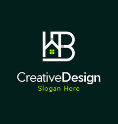 letter b home reality creative business logo vector image