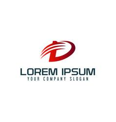 letter d arrow logo design concept template vector image