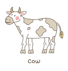 Lineart cow vector image