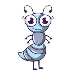 Little bee icon cartoon style vector