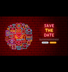 love neon banner design vector image
