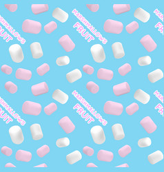 Marshmallow white and pink pattern vector