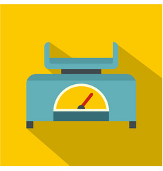 Mechanical scales icon flat style vector