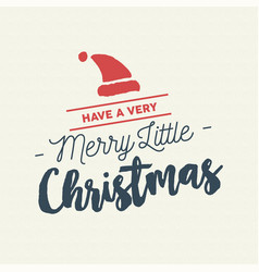 merry christmas calligraphy santa vector image