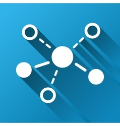 Molecular Structure Gradient Square Icon vector