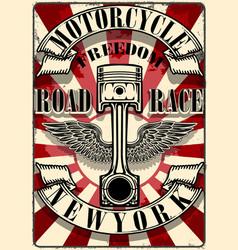 Motorcycle tee graphic design vector