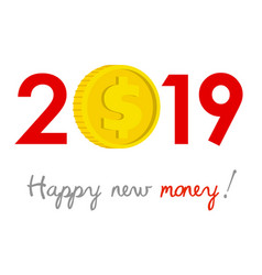 New year 2019 business concept vector