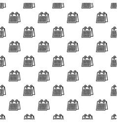 office calendar pattern seamless vector image