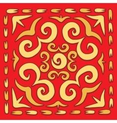 Orient square arabesque vector