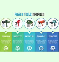painting works tools online shop web banner vector image
