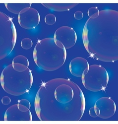 Pattern with soap bubbles vector