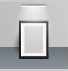 Photo frame illuminated design light wall vector