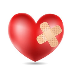 plastered Heart vector image vector image