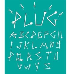 Plug font vector