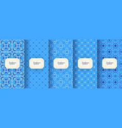 Portuguese azulejo tiles encaustic seamless vector