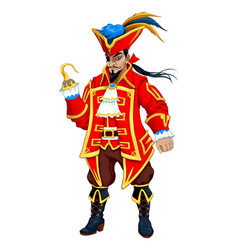 red pirate with hooks vector image