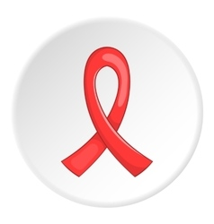 Red ribbon logo flat style vector image
