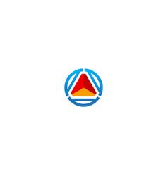 round shape 3d technology company logo vector image