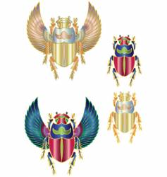 Scarab gold vector