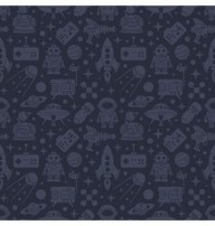 Sci-fi retro pattern vector