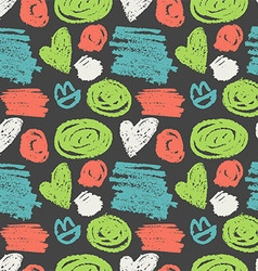 Seamless pattern with abstract geometric polka dot vector