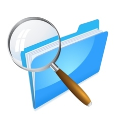 search in folder icon vector image