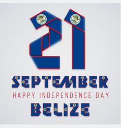 september 21 belize independence day vector image