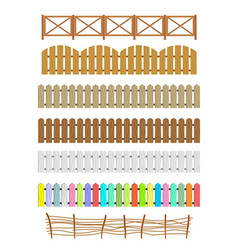 set of different fences vector image