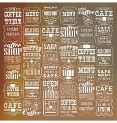 Set Of Vintage Retro Coffee vector