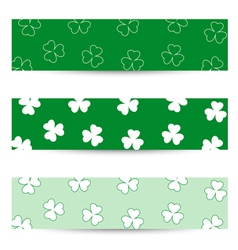 Shamrock seamless banners vector image