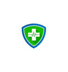 shield medical logo icon design vector image