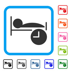 sleep time framed icon vector image