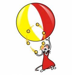 Souris ballon vector