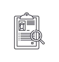 Summary line icon concept summary linear vector