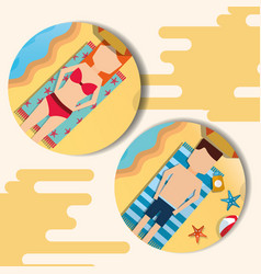 summer time beach vector image