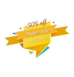 Super Sale banner on white background vector image