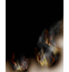 transparent design burning templates torn paper vector image