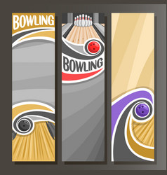 Vertical banners for bowling vector