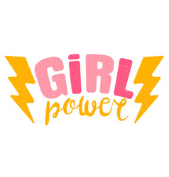 Vintage logo a girl power retro emblem vector