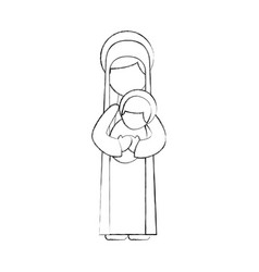 Virgin mary holding bajesus christian and vector