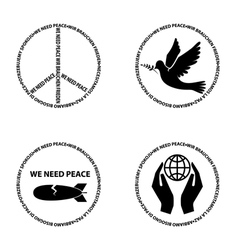 We need peace22 vector