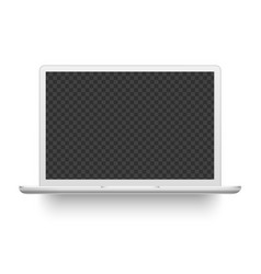 White laptop mockup electronics device vector