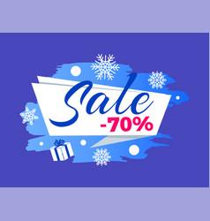 Winter seasonal sale advert vector