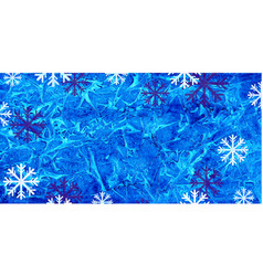 Winter watercolor background with snowflakes vector