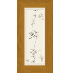 wood frame vertical vector image